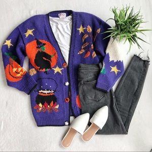 Vintage Halloween Knit Cardigan